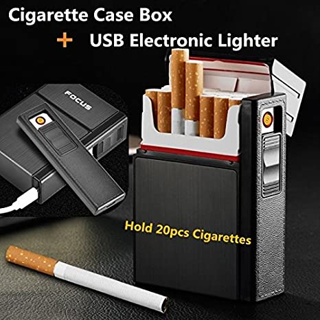 Buy FOCUS Cigarette Case Box With Removable USB Electronic