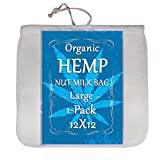 Organic Hemp Nut Milk Bag - Extra Large 12