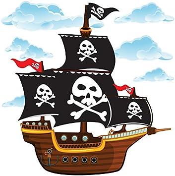 GET STICKING DECOR® Barco Pirata Pegatinas De Pared/ Calcomanías Colección, CartoonShip Pship3, Vinilo Removible Brillante, Multi Color. (Large): Amazon.es: Bricolaje y herramientas