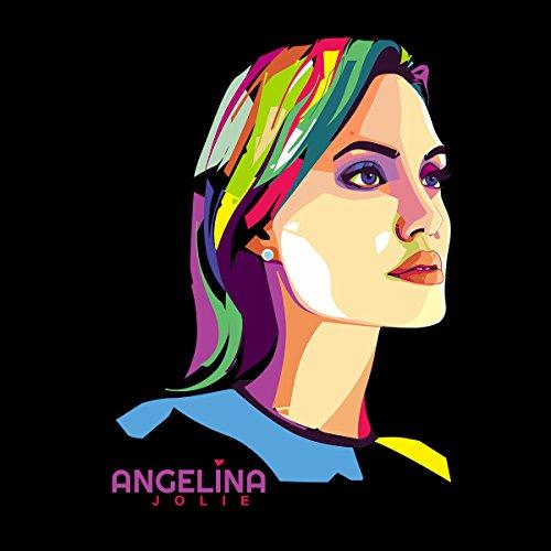 Geometric Celebrity Angelina Jolie Women's Vest Black