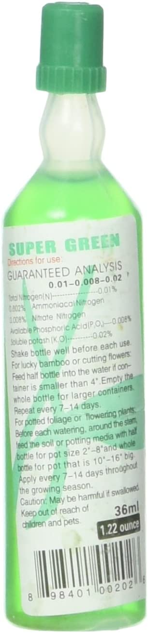 JC Sales Super Green Plant Food (one Bottle, Lucky Bamboo Fertilizer)