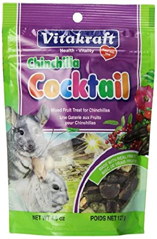 Vitakraft Chinchilla Cocktail Mixed Fruit Treat, 4.5 Ounce Pouch - Creek Cocktail