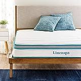 Linenspa 8 Inch Memory Foam and Innerspring Hybrid Mattresses - Medium Feel - Twin