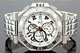 Aqua Master Mens Swiss Made Sports Diamond Watch 0.12ctw