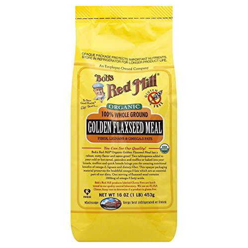 Bob's Red Mill Golden Flaxseed Meal, Organic, Gluten Free, Whole Ground, 16 Ounce