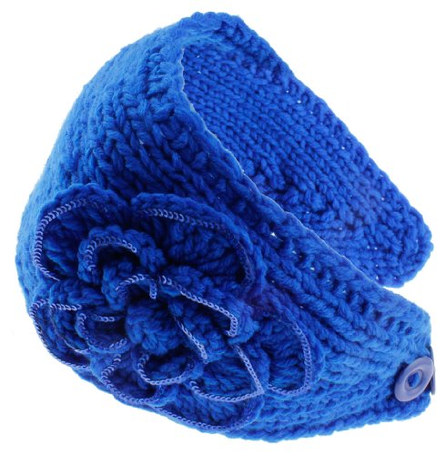 8829-25 NY Deal Knit Winter Headband Ear Warmer, Royal Blue