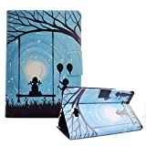 Funyye Magnetic Closure Case for Galaxy Tab A 10.1 SM-T580,Stylish Romantic Lovers Design Ultra Thin with Credit Card Holder Slots Soft PU Leather Case for Samsung Galaxy Tab A 10.1(SM-T580/SM-T585)