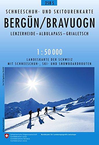 258S Bergün / Bravuogn Schneeschuh- und Skitourenkarte: Lenzerheide - Albulapass - Grialetsch (Skitourenkarten 1:50 000)