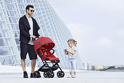 gb 2018 Buggy QBIT+ WITH Bumper Bar ''Satin Black''- from birth up to 17 kg (approx. 4 years) - GoodBaby QBIT PLUS by gb (Image #1)