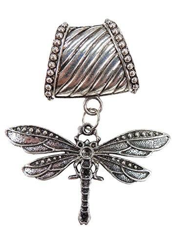 dragonfly pendant slide tube set scarf jewelry necklace Tube Slide Pendant