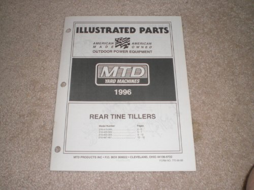 Illustrated Parts Mtd Rear Tine Tillers