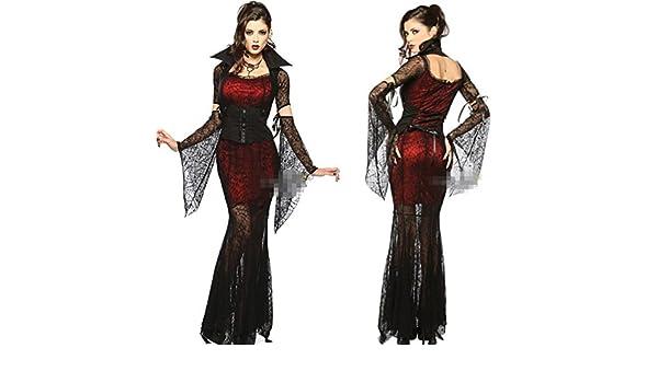 Ch&Ch Vestido de uniforme de gala reina del baile sexy sexy vampiro novia fantasma de Halloween espectáculo: Amazon.es: Hogar