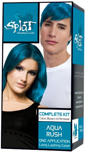 aqua hair color - 9