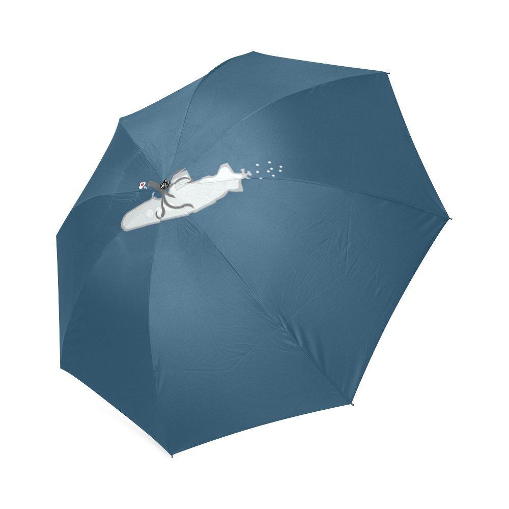 Wokfox Personalized Love and Live Foldable Fabric Rainy Sunny Umbrella