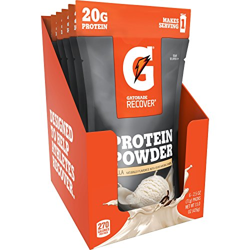 (Gatorade Recover Whey Protein Powder, Vanilla (6 single pouches, 20 grams of protein per serving))