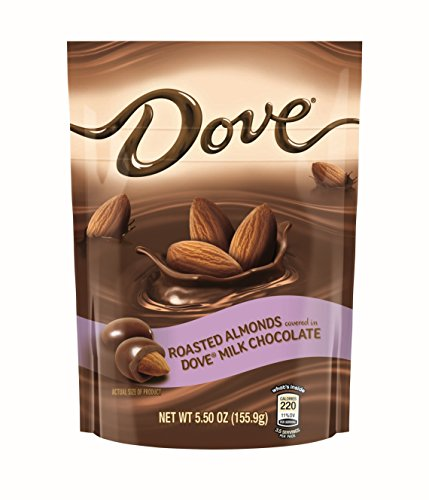 Almond Nut Milk (Dove Milk Chocolate Covered Almond Candy Pouch, 5.5 Ounce)
