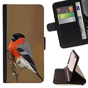 - Queen Pattern FOR Apple Iphone 4 / 4S /La identificaci????n del cr????dito ranuras para tarjetas tir????n de la caja Cartera de cuero cubie - spring winter bird nature red ornit