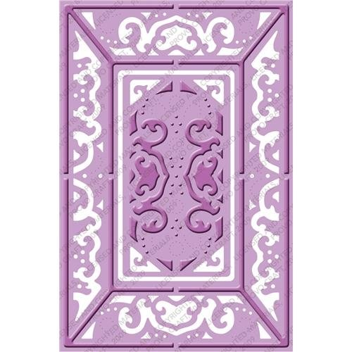 Cuttlebug Provo Craft Plus A2 Embossing Folder, Lace Door