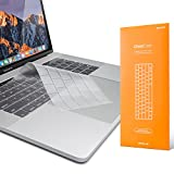 UPPERCASE GhostCover Premium Ultra Thin Keyboard Protector for MacBook Pro with Touch Bar 13' and 15' (2016 2017 2018 2019, Apple Model Number A1706, A1707, A1989, A1990)