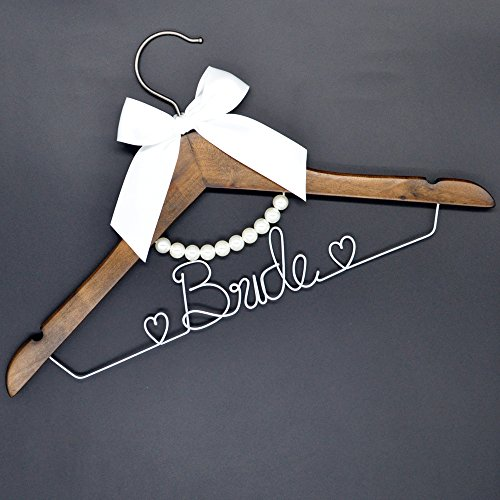 Handmade diy wedding mrs wedding hanger wedding party for Wedding dress hanger amazon