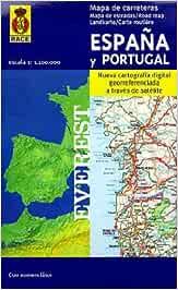 Mapa de carreteras de España y Portugal. 1:1.100.000: Nueva cartografía digital georreferenciada a través de satélite. Mapas de carreteras: Amazon.es: Cartografía Everest: Libros