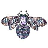EVER FAITH Rhinestone Crystal Honeybee Insect Brooch