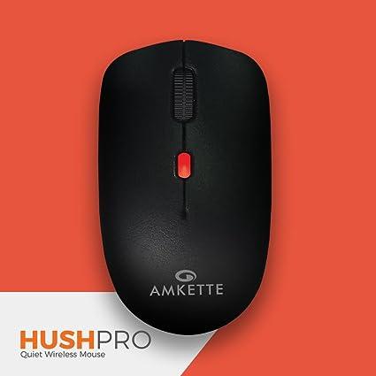 b370dfe42f1 Amkette HushPro-The Quiet Wireless Mouse for Laptop/PC/Desktop ...