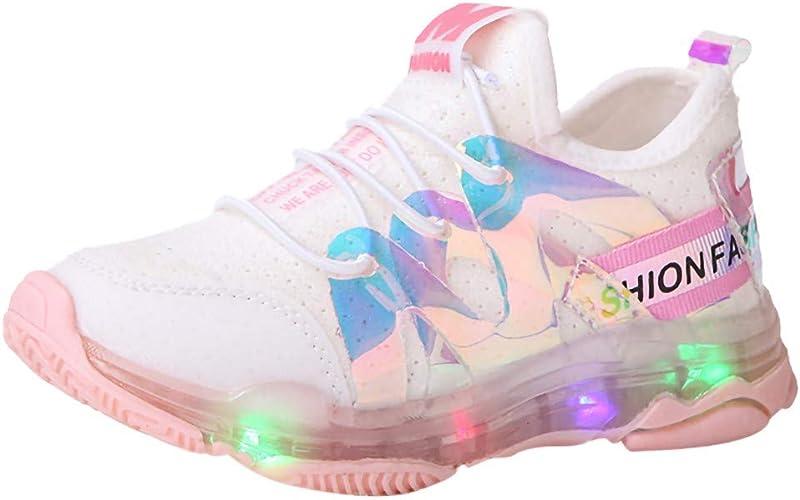 Zapatillas para Niños Niñas con Luces Deportivas Verano Otoño 2019 PAOLIAN Calzado de Deportes Niños Unisex Running LED Zapatos Bebes Primeros Pasos Bautizo Suela Dura 22-29 EU: Amazon.es: Zapatos y complementos
