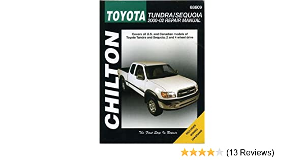 toyota tundra sequoia 2000 2002 chilton s total car care repair rh amazon com 2018 Tundra Manual Inside 2018 Tundra Manual Inside