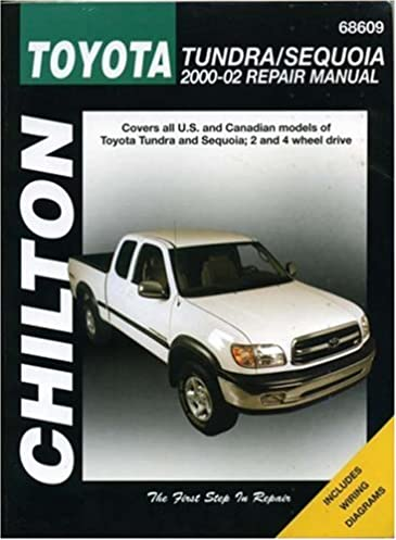 toyota tundra sequoia 2000 2002 chilton s total car care repair rh amazon com Haynes Manual Monte Carlo Back Clymer Manuals