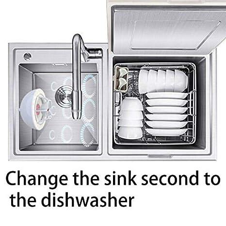 SHIYN Ultrasonic Mini lavavajillas, portátil a máquina, USB, sin ...
