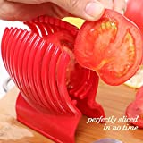 Arc Tomato Slicer (TM) -Amazingly Accurate Tomato Slicer with Firm Grip System -Super Safe and Durable ABS Material -Super Time Saver with Ergonomic Design -Up to 13 Slices -Vibrant Red -714
