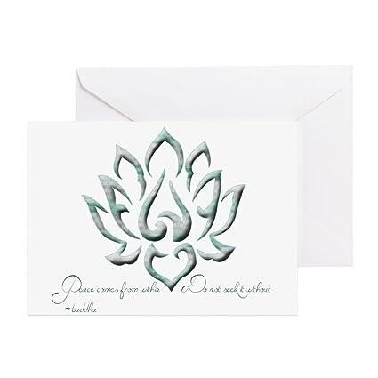 Amazon Cafepress Buddha Lotus Flower Peace Quote Greeting