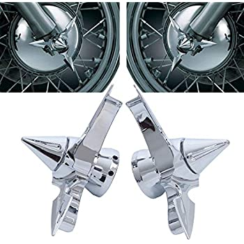 Frenshion Compatible para 2Pcs Negro Moto Cubierta de tuerca del eje delantero CNC Billet Cubiertas de tuerca de aluminio Kit de pernos para Harley Touring Dyna XL XG Softail