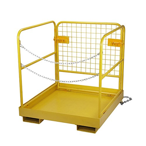 BEAMNOVA Forklift Safety Cage Work Platform Collapsible Lift Basket Aerial Rails 36''x36'' by BEAMNOVA