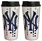 The Memory Company New York Yankees 32oz Single Wall Travel Mug 2 Pack