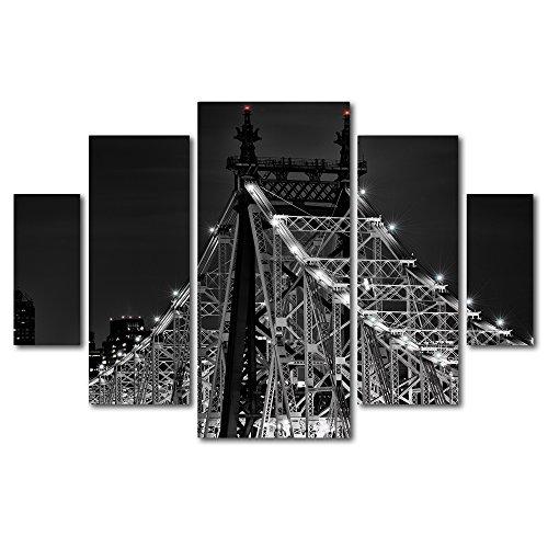 Queensborough Bridge by David Ayash 5 Panel Art Set by Trademark Fine Art