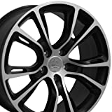 20x8.5 Wheel Fits Jeep Grand Cherokee- SRT8 Style Satin Black Rim w/Mach'd, Hollander 9113