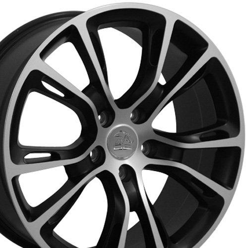 20x8.5 Wheel Fits Jeep Grand Cherokee- SRT8 Style Satin Black Rim w/Mach'd, Hollander 9113