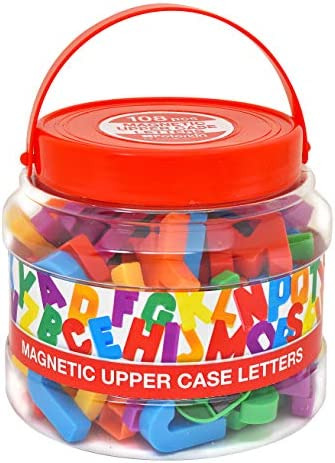 Peterkin Classics 22310 Magnetic Upper case letters-108pcs Multi