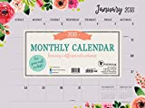 2018 Floral Monthly Mini Blotter for Wall or Desk