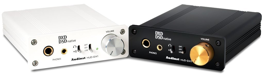 AUDINST HUD-DX1 (WHITE) Audiophile USB Audio DAC & Headphone Amp by AUDINST
