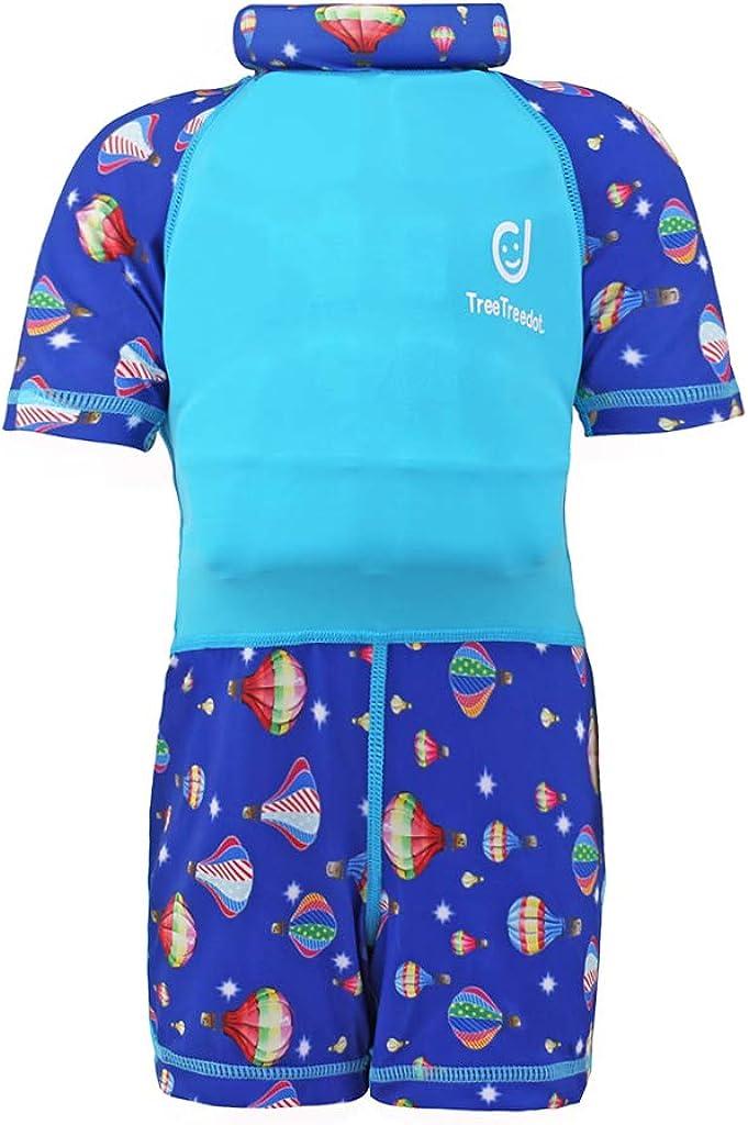 Costumi da Bagno Galleggiabilit/à per Ragazze Ragazzi Nuoto Abbigliamento Protezione Solare UV 1-7 Anni Tuta Galleggiante per Bambine Bambini