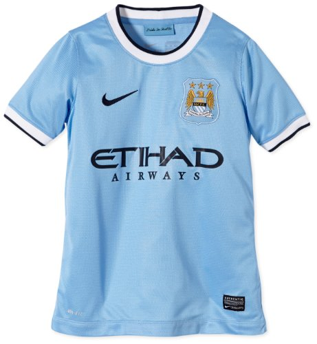 Nike Manchester City FC Youth Short Sleeve Home Replica Jersey (Field Blue) (10 Nike Replica Home Jersey)