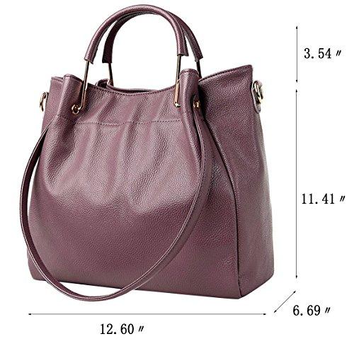 Bag Handbags Shoulder Ladies Womens wanture Tote Hobo Purse Handbag Designer Bag Body Cross Leather Purple zwYOYqEf