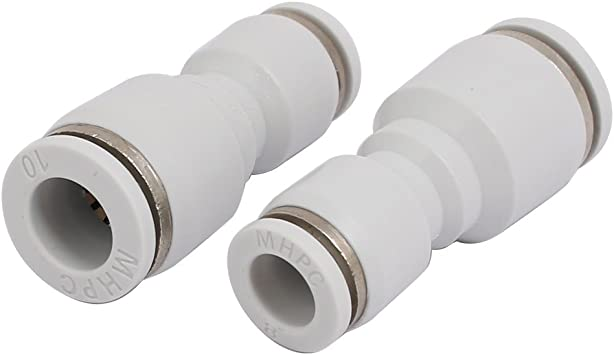 uxcell Straight Pneumatic Push to Quick Connect Fittings M5 Male X 6mm Tube OD Silver Tone 6pcs