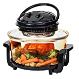 Best Choice Products 12L Electric Countertop Convection Oven for Roasting, Baking, Steaming w/2 Wire Racks, Tongs- Black