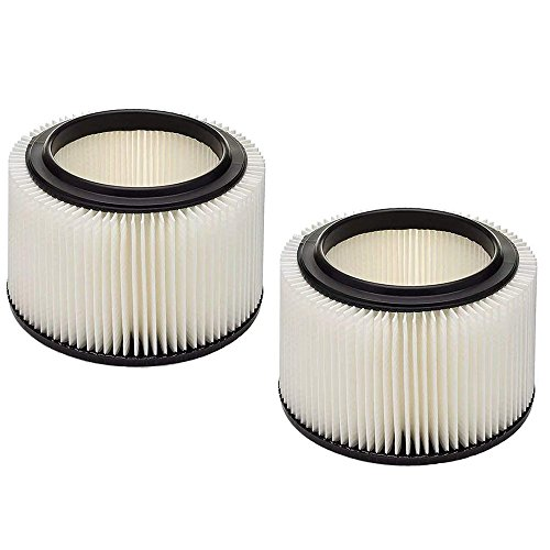 Wet Cartridge Filter - VACFIT Filter for Craftsman General Purpose 3 & 4 Gallons Vacuum Filter Replacement Wet & Dry Cartridge Filter Fit for Craftsman Part 917810 2Packs