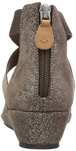 Gentle Souls Cole PEEP Women's Lisa Kenneth Toe Wedge by Shoe Strap Low Cocoa Elastic rrpqxwBd