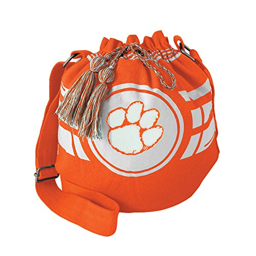 NCAA Clemson Tigers Ripple Drawstring Bucket Bag